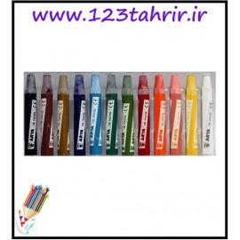 پاستل 12 رنگ مقوایی آریا