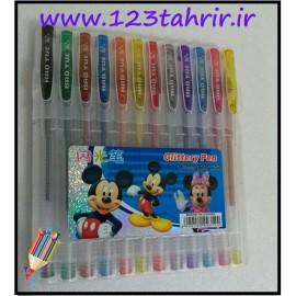 خودکار 12 رنگ ژله ای