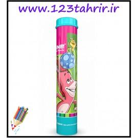 مداد رنگی 12 رنگ ماین لوله ای