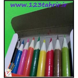 مداد رنگی 12 رنگ روزنامه ای جلد مقوایی سحرآمیز
