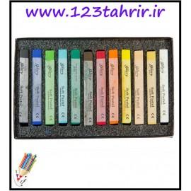 پاستل گچ گالری 12 رنگ مانگیو